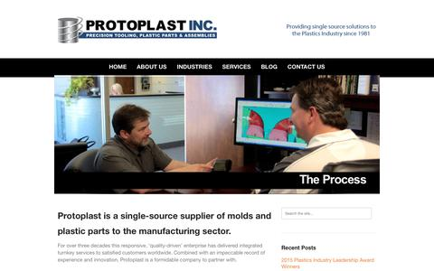 Screenshot of About Page protoplast.com - Turnkey Custom Onsite Mold Making - ISO 9001 - Protoplast Inc, OntarioProtoplast Inc. - captured Feb. 2, 2016