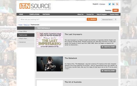 Screenshot of Testimonials Page itnsource.com - Testimonials - captured Sept. 25, 2014