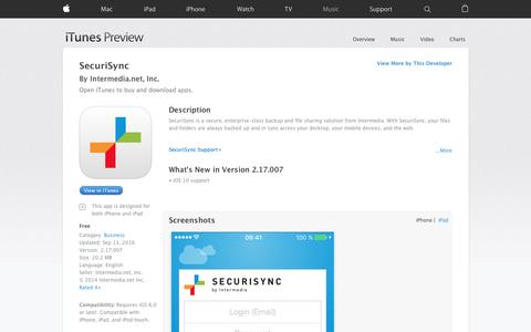 SecuriSync on the App Store