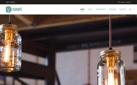 Screenshot of Home Page nuvarti.com - Bespoke Lighting Solutions - Nuvarti - captured Aug. 17, 2015