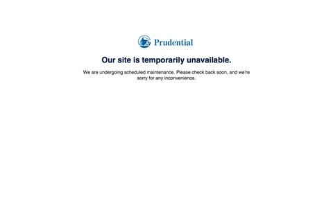 Prudential - Our site is temporarily unavailable.