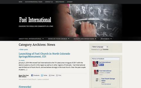 Screenshot of Press Page fuel.org - Posts | Fuel International | Changing the World One Community at a Time - captured Oct. 1, 2014