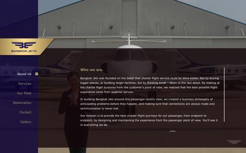 Screenshot of About Page bangkokjets.com - Who we are. | Bangkok Jets - captured Oct. 3, 2014