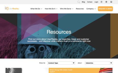 Resource Center - UserReplay