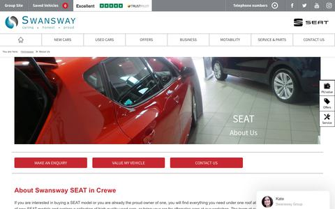 Screenshot of About Page swanswaygarages.com - About Us   Swansway SEAT - captured Feb. 2, 2018