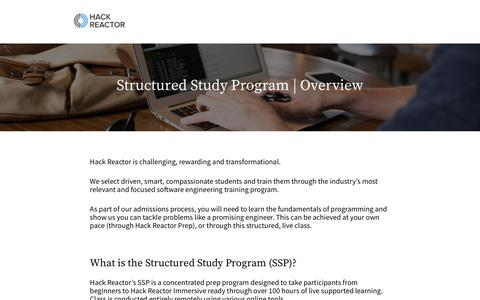 Structured Study Program Overview   Hack Reactor
