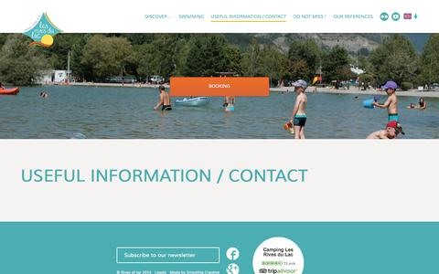 Screenshot of Contact Page camping-lac.com - Useful information / contact - The Alps in Provence - captured Oct. 2, 2014