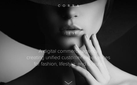 Screenshot of Home Page corra.com - Corra | New York, Los Angeles + London Digital Agency - captured Oct. 1, 2015