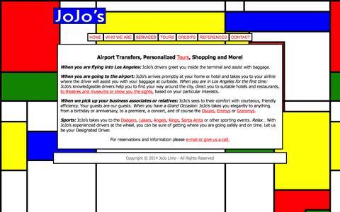 Screenshot of Services Page jojolimo.com - Services « JoJo Limo - captured Oct. 6, 2014