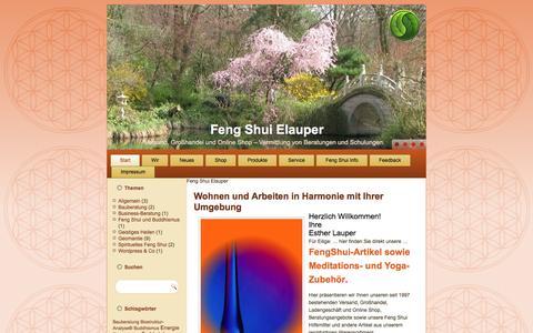 Screenshot of Home Page feng-shui-elauper.de - Feng Shui Elauper - Großhandel, Feng Shui Versand, Online Shop - captured April 2, 2017