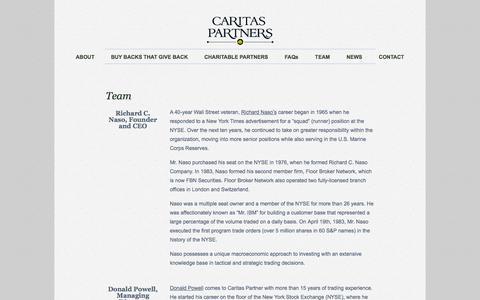 Screenshot of Team Page caritaspartnersllc.com - Meet The Caritas Partners Team | Caritas Partners - captured Sept. 26, 2014