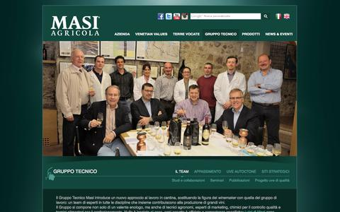 Screenshot of Team Page masi.it - Gruppo Tecnico Masi, Team - captured Nov. 4, 2014