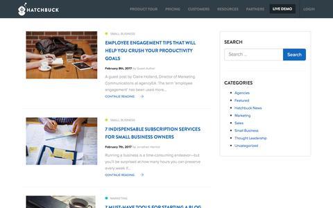 Screenshot of Blog hatchbuck.com - Blog for Small Business - Hatchbuck - captured May 17, 2017