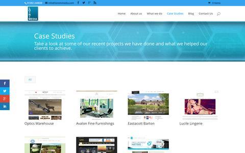 Screenshot of Case Studies Page loinimmedia.com - Case Studies - Loinim Media - captured July 16, 2016