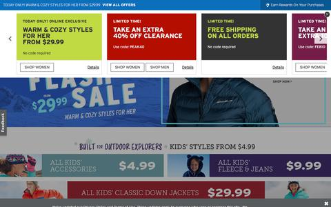 Screenshot of Home Page eddiebauer.com - Shop for Outerwear, Clothing, Shoes, Gear for Men & Women at Eddie Bauer. 100% satisfaction guaranteed. Since 1920 - captured Feb. 17, 2020