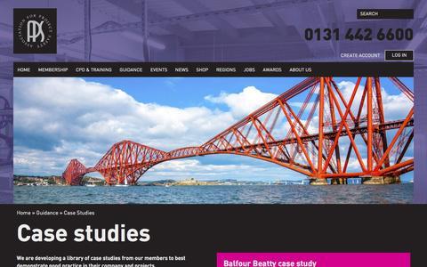 Screenshot of Case Studies Page aps.org.uk - Case studies  | APS - captured March 2, 2016