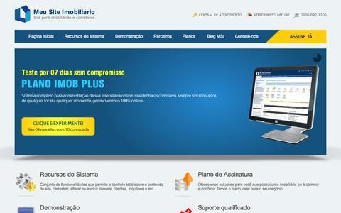 Screenshot of Home Page meusiteimobiliario.com.br - Meu Site Imobiliário - Site para Imobiliaria e Corretores de imóveis online - captured Sept. 23, 2014