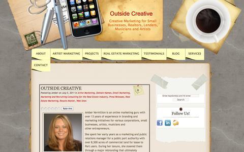 Screenshot of Blog outsidecreative.com - Blog | Outside Creative - captured Sept. 30, 2014