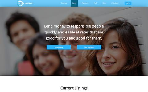 Lend on WeFinance