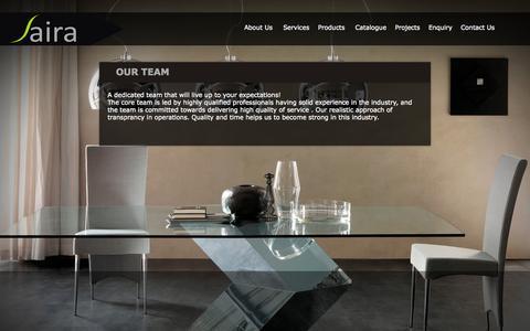 Screenshot of Team Page sairafurniture.com - Our Team : Sairafurniture - captured Oct. 4, 2014
