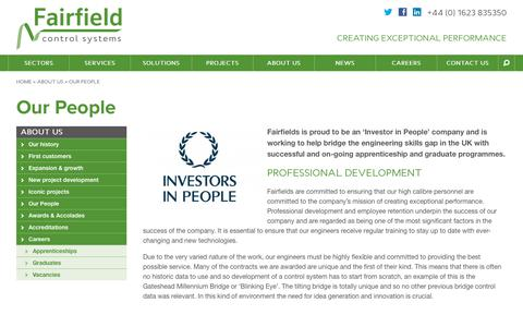 Screenshot of Team Page fairfields.co.uk - Our People - Fairfield Control Systems - captured Oct. 10, 2018