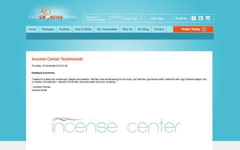 Screenshot of Testimonials Page logocreativedesign.com - Testimonials - captured Sept. 30, 2014