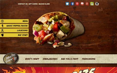 Screenshot of Home Page muchoburrito.com - Mucho Burrito | Fresh Mexican Grill - captured Oct. 6, 2014