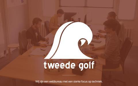 Screenshot of Home Page tweedegolf.nl - tweede golf - captured Aug. 3, 2015