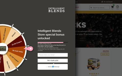 Screenshot of Trial Page shopblends.com - Trial Packs – Intelligent Blends Store - captured July 7, 2018