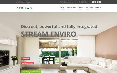 Screenshot of Home Page streamenvironmental.co.uk - Stream Enviro - captured Feb. 5, 2016