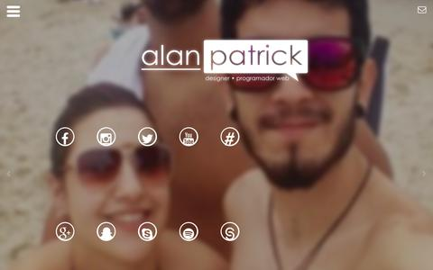 Screenshot of Home Page alanpatrickk.net - Alan Patrick | Templates para Blogger e Temas para Wordpress. - captured Feb. 18, 2016