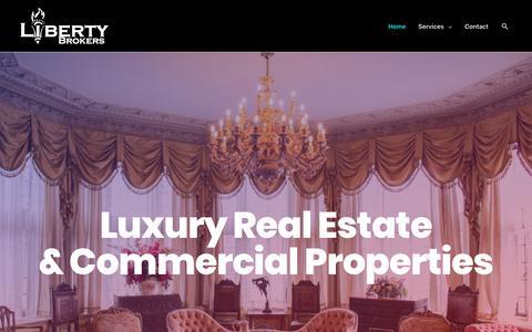 Screenshot of Home Page libertybrokers.com - Liberty Brokers - Atlanta's Premier Real Estate Agents - captured Oct. 25, 2018