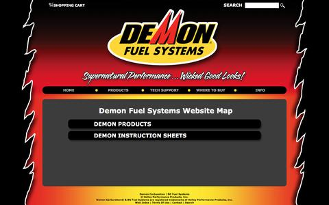 Screenshot of Maps & Directions Page demoncarbs.com - Demon Fuel Systems Map - captured March 25, 2016