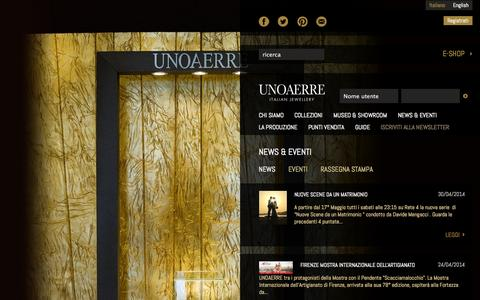 Screenshot of Press Page unoaerre.it - News | Unoaerre - captured Oct. 4, 2014