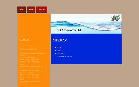 Screenshot of Site Map Page 3gassociates.org - 3G Associates - captured Oct. 27, 2014