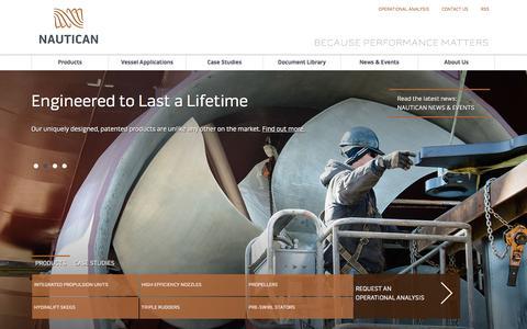 Screenshot of Home Page nautican.com captured Jan. 11, 2016