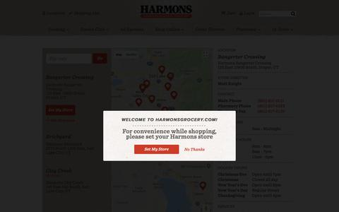 Screenshot of Locations Page harmonsgrocery.com - Locations - captured July 16, 2018