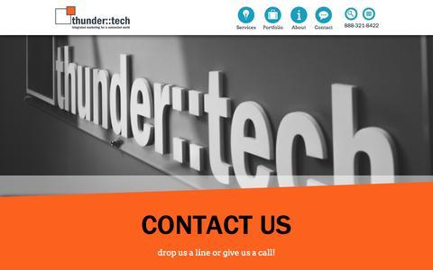 Screenshot of Contact Page thundertech.com - Contact Us Today | thunder::tech - captured Sept. 24, 2014