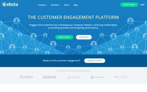 Screenshot of Team Page ebsta.com - Customer Engagement Platform | Salesforce | Ebsta - captured Nov. 16, 2018