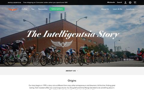 Screenshot of About Page intelligentsiacoffee.com - About | Intelligentsia Coffee - captured Dec. 9, 2016