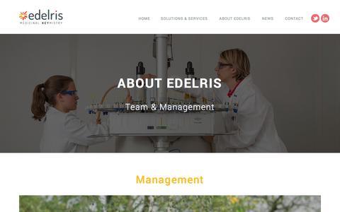 Screenshot of Team Page edelris.com - Team & Management   Edelris – Medical chemistry - captured July 14, 2018