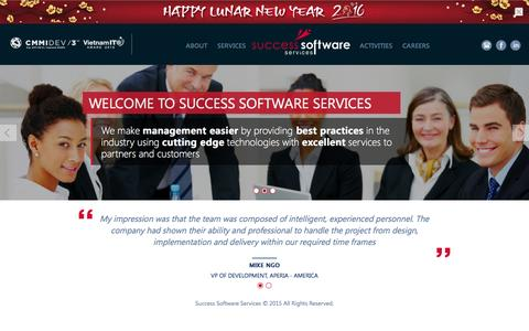 Screenshot of Home Page success-ss.com - Success Software Services - captured Feb. 22, 2016