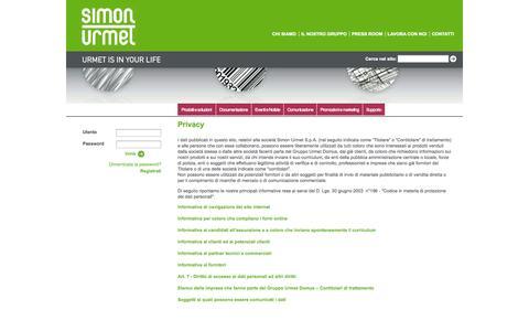Screenshot of Privacy Page simonurmet.com - Privacy - captured Oct. 26, 2014