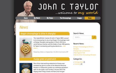 Screenshot of Press Page johnctaylor.com - News - John C Taylor - captured Nov. 3, 2014