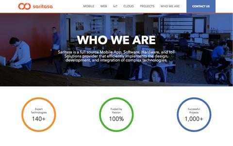 Screenshot of About Page saritasa.com - Who We Are – Real People, Real Passion. Saritasa is a leading custom software, hardware, and IoT solutions developer intensely focused on helping companies succeed through efficient, advanced technology. - captured March 1, 2017