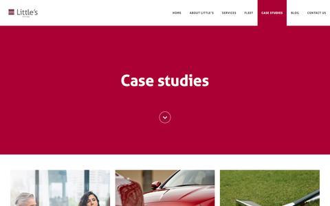 Screenshot of Case Studies Page littles.co.uk captured July 21, 2018