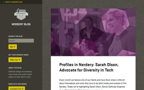 Screenshot of Blog nerdery.com - Nerdery Blog - - captured Nov. 11, 2015