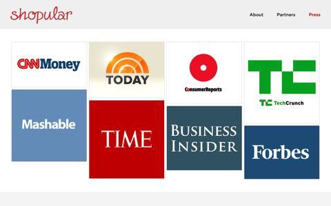 Screenshot of Press Page shopular.com - Press  | Shopular - captured May 9, 2017