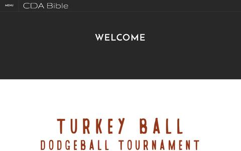 Screenshot of Home Page cdabible.org - Coeur d' Alene Bible Church - Home - captured Nov. 8, 2016