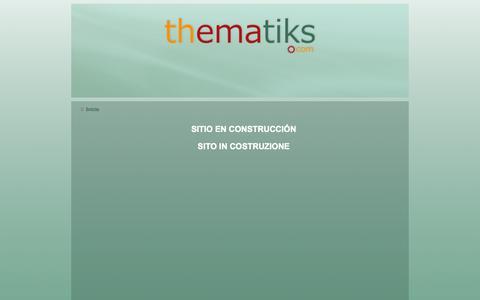 Screenshot of Home Page thematiks.com - Inicio - captured Sept. 19, 2014